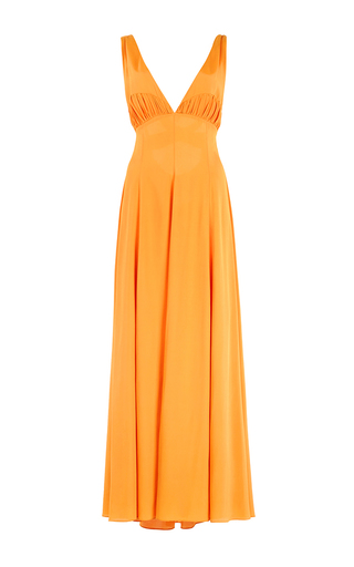 Medium emilia wickstead orange the fanina beaded detail dress
