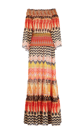 Medium temperley london print prophecy off the shoulder long dress