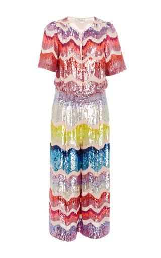 Medium temperley london multi fairyqueen sequin embellished jumpsuit