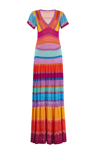 Medium temperley london multi sunlight midi knit dress
