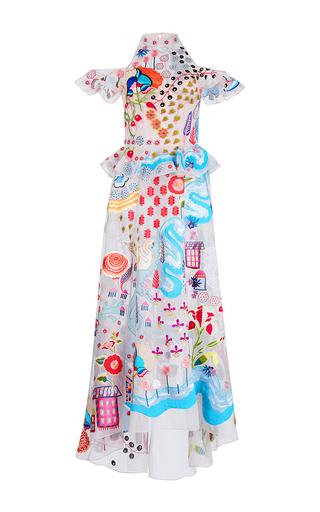 Medium temperley london multi chimera cold shoulder long dress