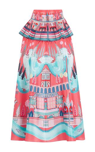 Medium temperley london print nymph peplum skirt