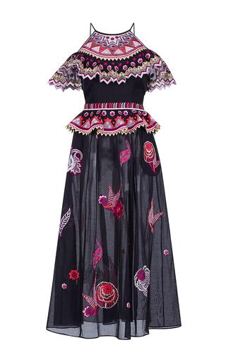 Medium temperley london black wildflower ruffled dress