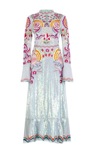 Medium temperley london green glint midi show dress