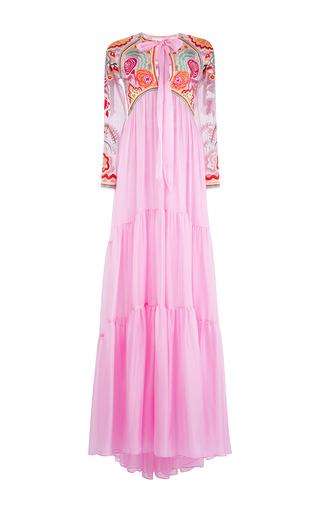 Medium temperley london pink chimera empire long dress