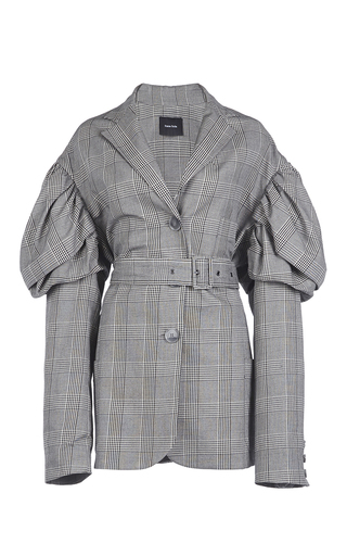 Medium simone rocha plaid prince of wales check drop sleeves jacket
