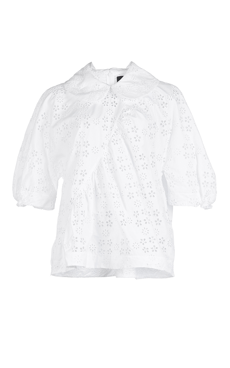 Free Shipping Official Official Site broderie anglaise shirt - White Simone Rocha Discount Best Prices UlKMNzv3