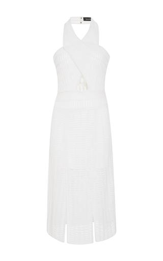 Medium tabula rasa white haze wrap effect knitted dress