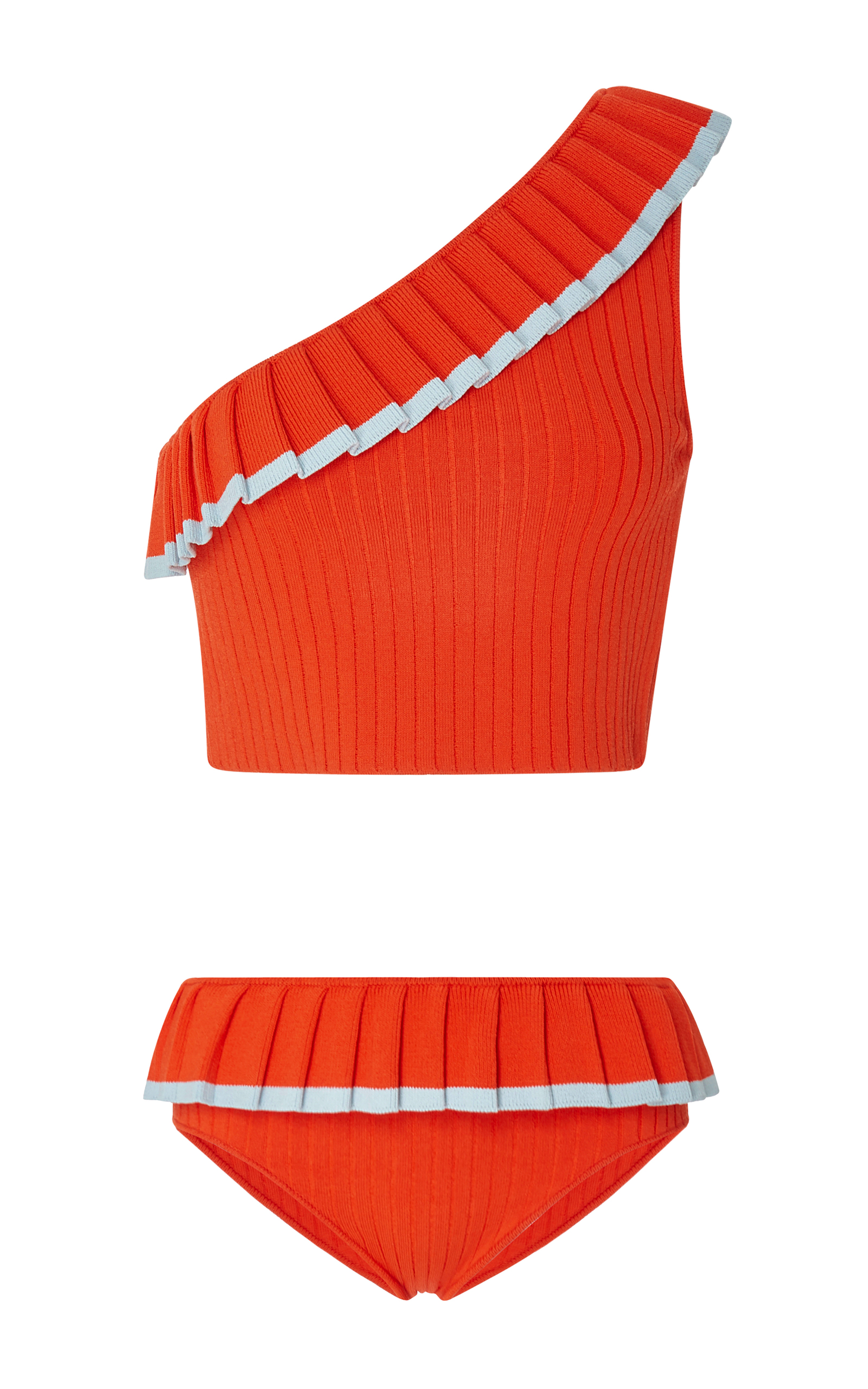 Aracari One-Shoulder Ribbed Bikini Set