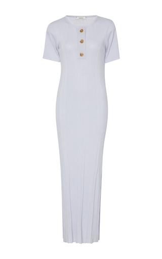 Medium wendelborn light grey ribbed wool and silk blend dress