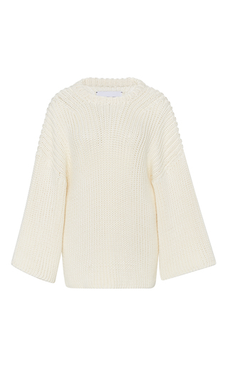 Medium i love mr mittens ivory ribbed knit cotton sweater