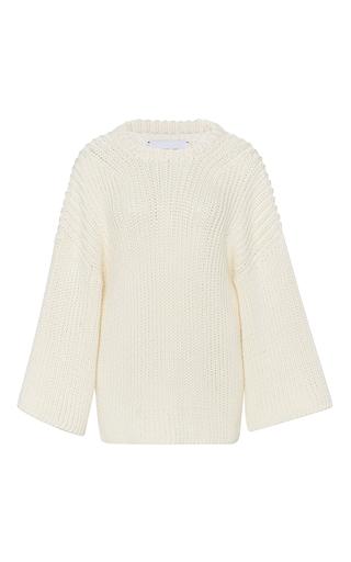 Medium i love mr mittens ivory ribbed knit cotton sweater