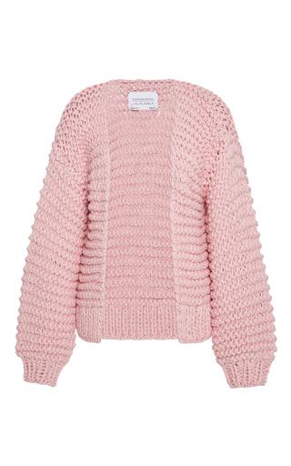 Medium i love mr mittens light pink ribbed cotton cardigan