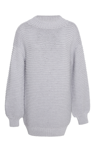 Medium i love mr mittens light grey cotton sweater