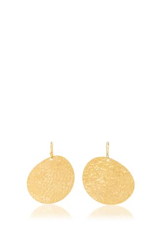Medium diane von furstenberg gold hammered gold earring