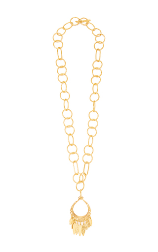 Medium diane von furstenberg gold hammered gold pendant