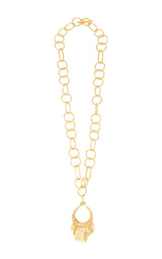Medium diane von furstenberg gold hammered gold pendant