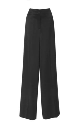Medium diane von furstenberg black wide leg evening pants