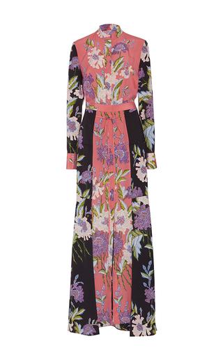 Medium diane von furstenberg floral floral floor length shirt dress