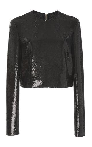 Medium diane von furstenberg black sequin shell top