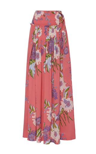 Medium diane von furstenberg floral floral maxi wrap skirt