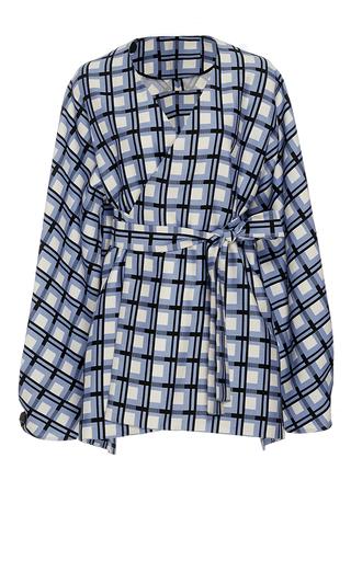 Medium diane von furstenberg print wrap front mikado jacket