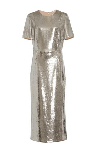 Medium diane von furstenberg silver tailored sequin dress