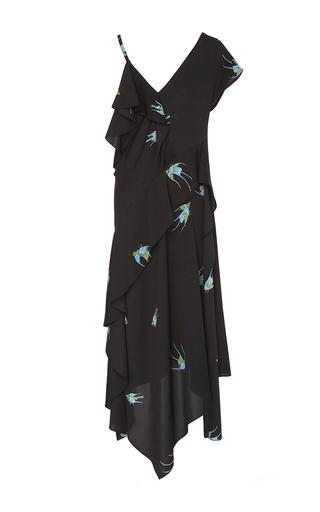 Medium diane von furstenberg print asymmetric ruffle printed dress