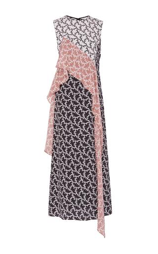 Medium diane von furstenberg multi sleeveless ruffle dress