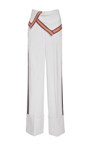 Medium diane von furstenberg white wide leg foldover pants