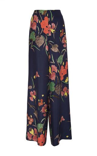 Medium diane von furstenberg floral wide leg floral silk pants