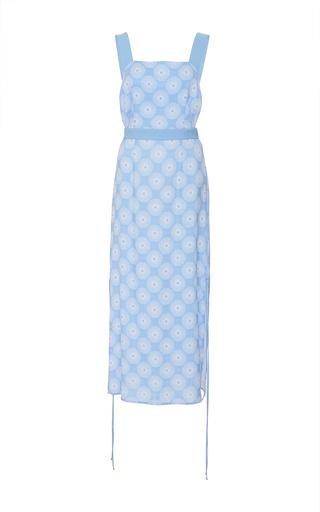 Medium diane von furstenberg print sleeveless halter midi dress