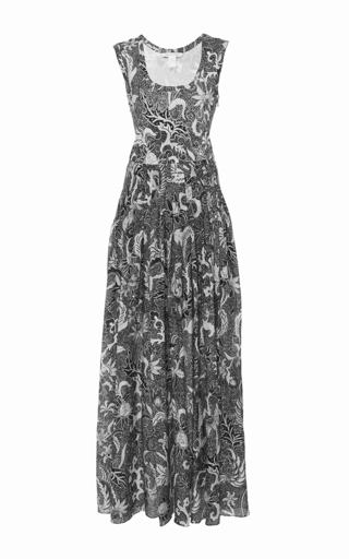 Medium diane von furstenberg print sleeveless pleat front dress