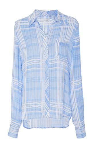 Medium diane von furstenberg plaid carter plaid blouse