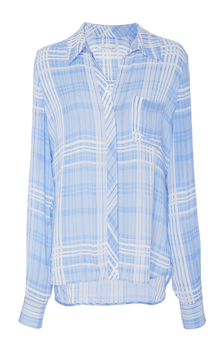 Medium diane von furstenberg plaid carter plaid blouse