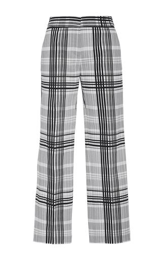 Medium diane von furstenberg plaid cigarette plaid twill pants