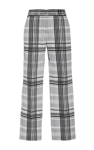 Medium diane von furstenberg plaid cigarette plaid twill pants