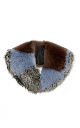 Medium diane von furstenberg black fur scarf