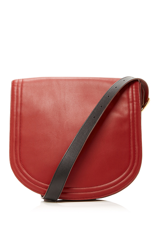 Medium diane von furstenberg burgundy saddle shoulder handbag