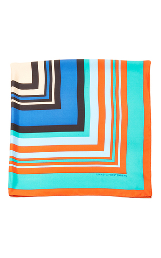 Medium diane von furstenberg turquoise borel silk twill scarf 36x36
