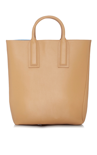 Medium diane von furstenberg tan origami tote solid handbag