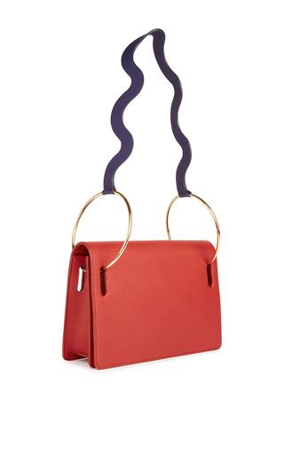 Medium roksanda ilincic red ring wave shoulder bag