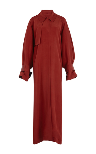 Medium roksanda ilincic red melba oversized trench coat