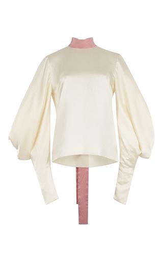 Medium roksanda ilincic yellow myra hammered silk top