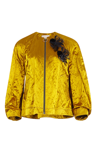 Medium roksanda ilincic yellow kengo cropped jacket