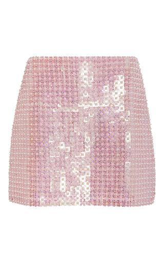 Medium adam selman pink hand beaded detail mini skirt