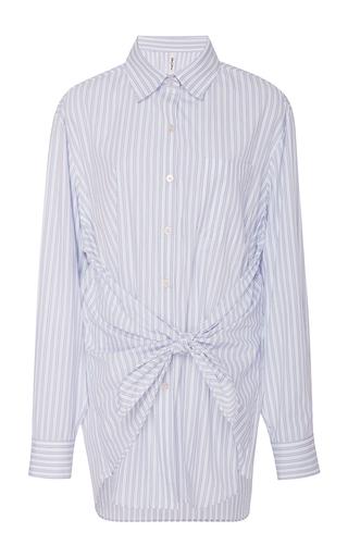 Medium adam selman light blue blush stripe bandana shirt