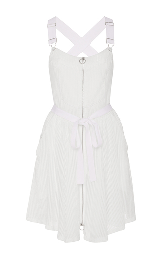 Medium adam selman off white milk overall dress