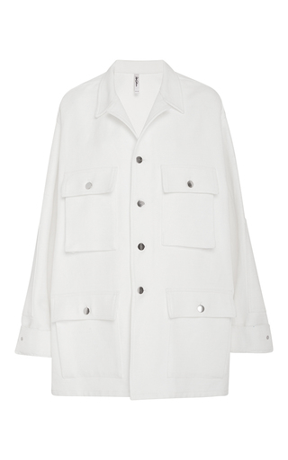 Medium adam selman off white cotton working girl jacket