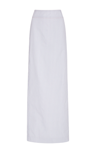 Medium adam selman stripe cotton lace up column skirt
